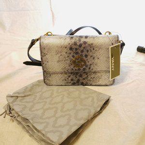 NWT OrYany Silver Snake Leather Ivy Crossbody Bag
